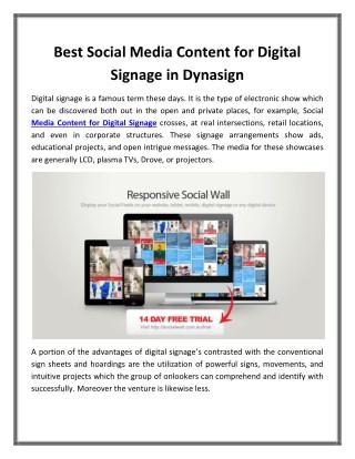 Best Social Media Content for Digital Signage in Dynasign