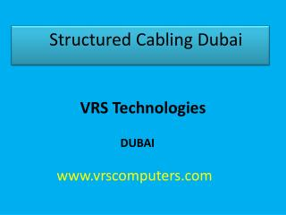 structured cabling companies in Dubai
