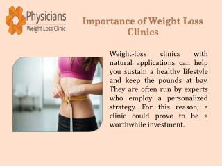 Importance of Weight Loss Clinics