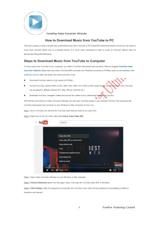 How to Download Music from YouTube to PC