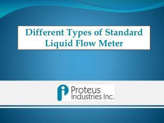 Standard Liquid FlowMeter - Proteus Industries