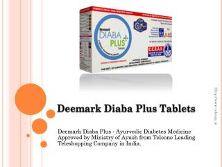 Deemark Diaba Plus - Ayurvedic Diabetes Medicine Approved by Ministry of Ayush from Teleone