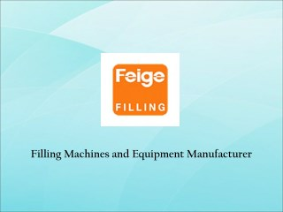 Filling Machines Suppliers