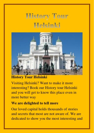 history tour helsinki