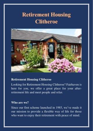 Retirement Housing Clitheroe