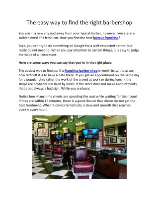 The easy way to find the right barbershop
