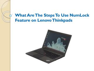What Are The Steps To Use NumLock Feature on Lenovo Thinkpads