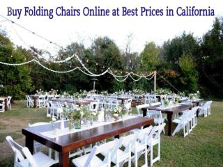 Buy Folding Chairs Online at Best Prices in California