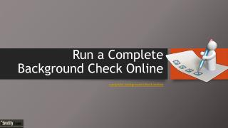 Run a Complete Background Check Online -pdf