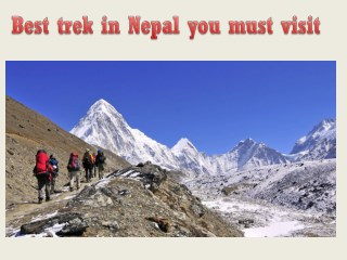 Best trek in Nepal you must visit