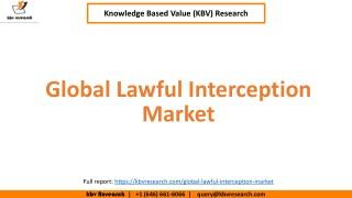 Global Lawful Interception Market Growth