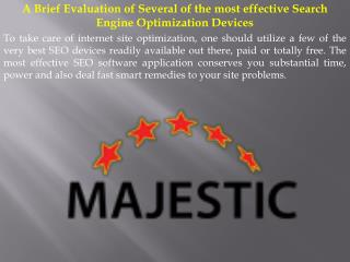 A Brief Evaluation of Several of the most effective Search Engine Optimization Devices