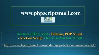 Auction Script - Reverse Auction Script - Auction php Script