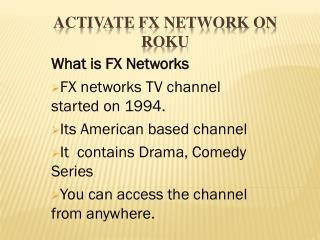 How to Activate FX NETWORKS On Roku