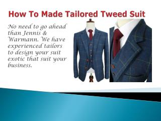 Tailored Tweed Suit