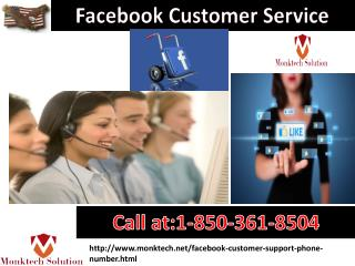 Why should I go for the Facebook Customer Service 1-850-361-8504?