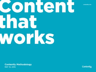 Content Methodology: A New Model for Content Marketing