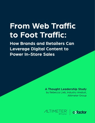 From Web Traffic to Foot Traffic: How Brands & Retailers Can Leverage Digital Content to Power In-Store Sales