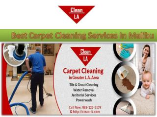 Best Carpet Cleaning Services In Malibu