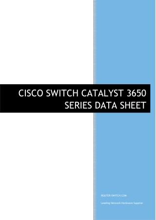 CISCO SWITCH CATALYST 3650 SERIES DATASHEET