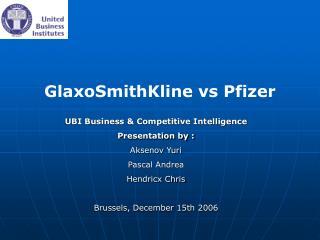 GlaxoSmithKline vs Pfizer