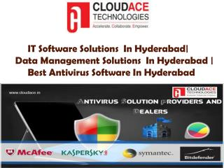 IT Software Solutions  In Hyderabad|  Data Management Solutions  In Hyderabad | Best Antivirus Software In Hyderabad