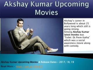 Akshay Kumar Upcoming Movies 2017