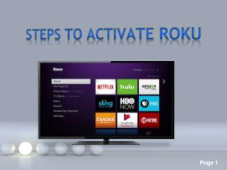 Steps To Activate Roku