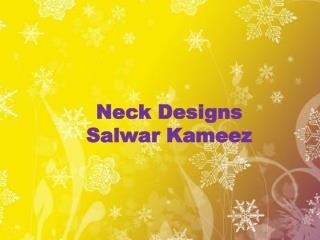 Neck Designs Salwar Kameez