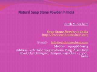 Natural Soap Stone Powder in India