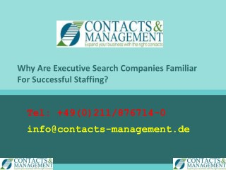 Why Are Executive Search Companies Familiar For Successful Staffing?