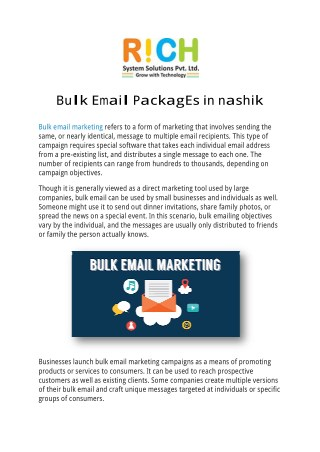 Bulk Email Packages in Nashik