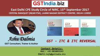Input Tax Credit (ITC) in GST with Practical Examples