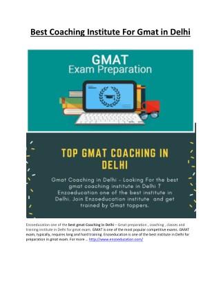 Best Coaching Institute For Gmat in Delhi