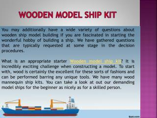 Wooden model ship kit