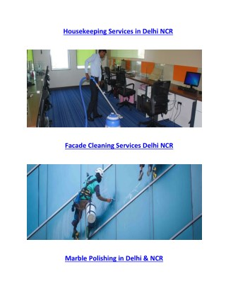 Professional Housekeeping Services in Delhi NCR