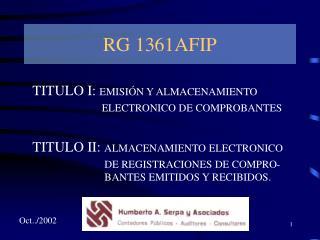 RG 1361AFIP