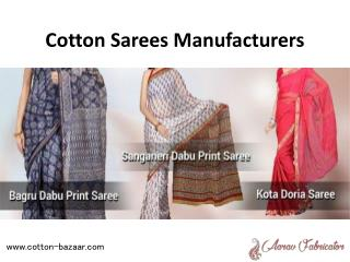 Cotton Sarees Manufacturers - Aarav Febricator