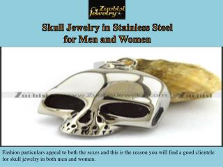 Skull Jewelry in Stainless Steel for Men and Women