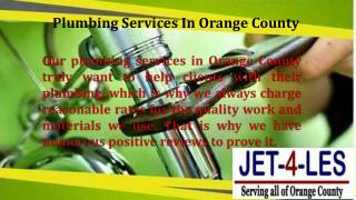 Reliable Plumbers In Orange County