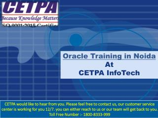 Oracle Training company in Noida