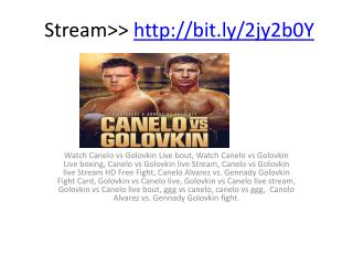 Canelo vs Golovkin live Stream HD Free Fight