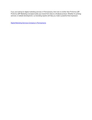 Digital Marketing Services Company in Pennsylvania