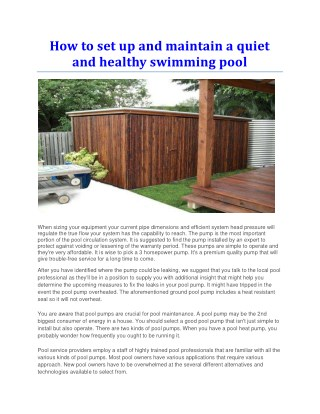 Pool pump noise reducer