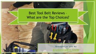 Top 3 Best Tool Belt