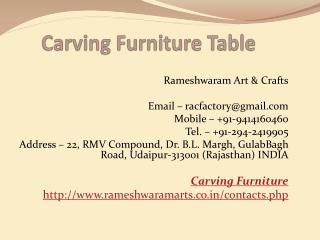 Carving Furniture Table