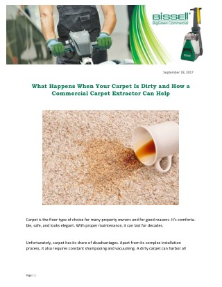 What Happens When Your Carpet Is Dirty and How a Commercial Carpet Extractor Can Help