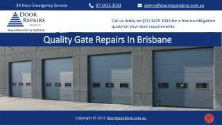 Quality Gate Repairs In Brisbane