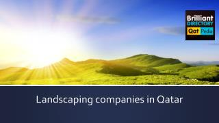 Best Landscaping Companies in Qatar