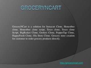 GroceryNcart - Online Grocery Script
